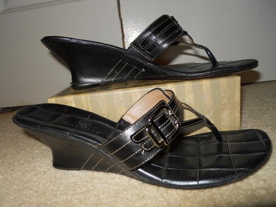 Cole Haan Leather black Sandals Image 3