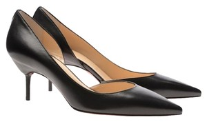 Christian Louboutin Leather Sixtizett 70 70 Mm Pointed Toe Kitten Heel D'orsay Black Pumps