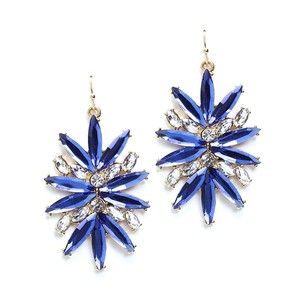Mariell Sapphire Starburst Bling For Prom Or Homecoming 4294e-sa-g Earrings