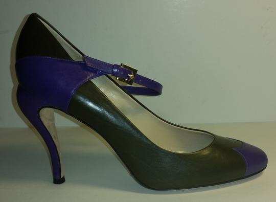 Fendi Nearly New Condition Slight Wear Heels Like From Being Worn Once In My Opinion Olive and Purple Pumps