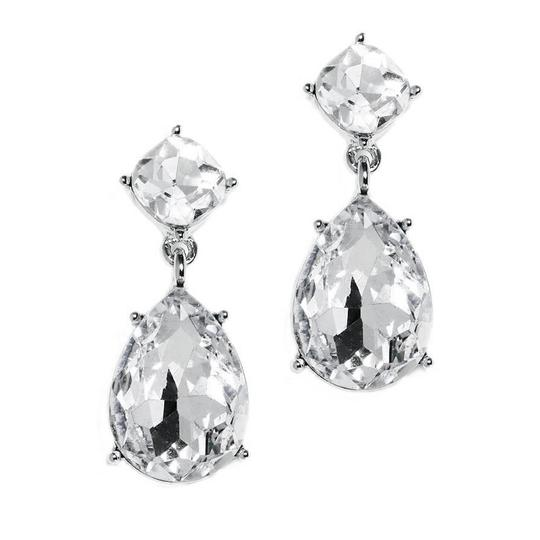 Mariell Silver Drop For Or Proms 4292e-cr-s Earrings