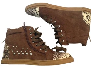 Wanted Brown snakeskin Athletic