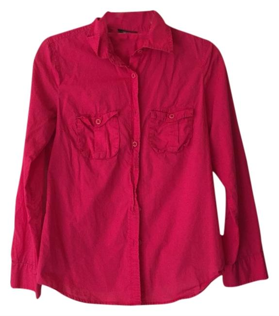 J.Crew Button Down Shirt Hot pink