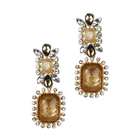 Mariell Beige Chic Crystal Opaque Pastel 4121e-bgmu Earrings