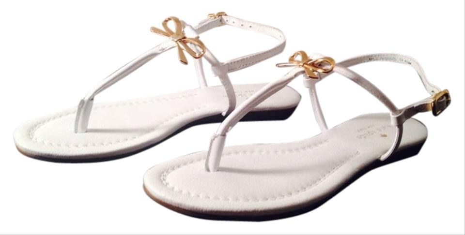 9542e366628 Kate Spade White New York Tracie Bow Thong Sandals Flats Size US 6.5 ...