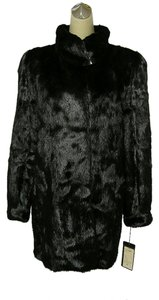 Other Black Mink Mik Mink Fur Real Fur Coat