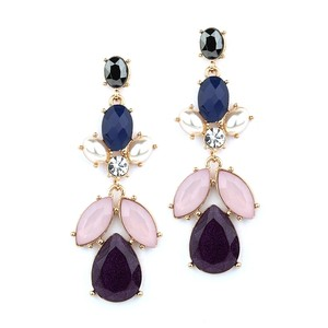 Mariell Urple Multi Drop Earrings For Prom Homecoming Or Bridesmaids 4331e-am-g