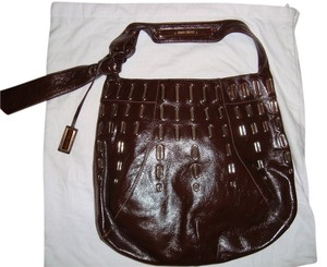 Jimmy Choo Leather Grommets New Hobo Bag