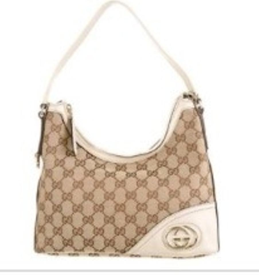 064bd314408 Gucci 182489 502752 Beige Canvass/Leather Shoulder Bag - Tradesy