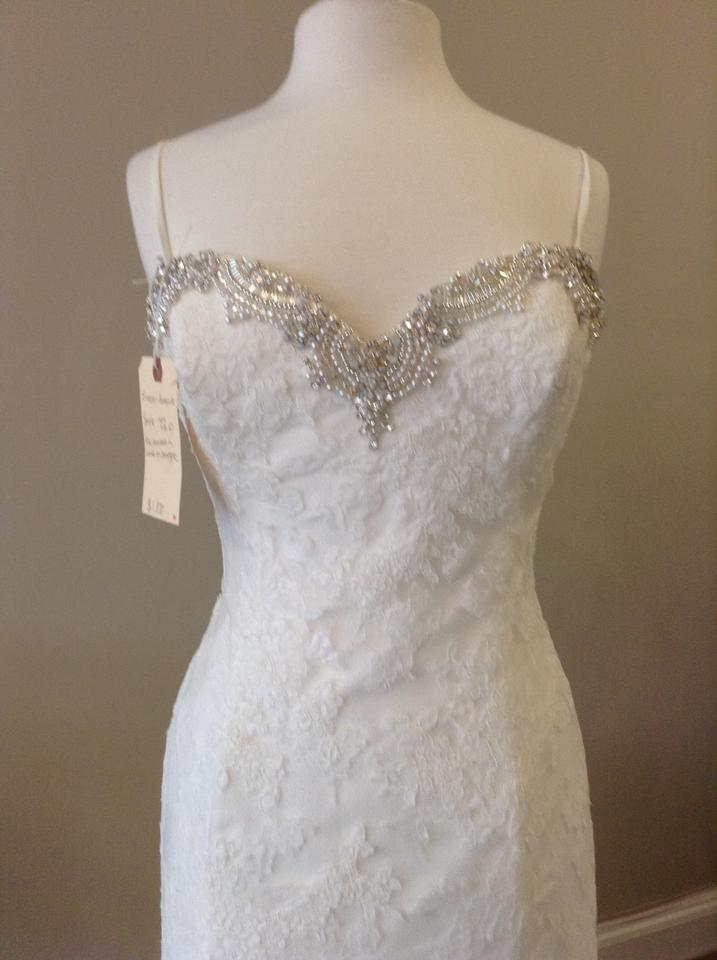 Enzoani ivory lace huntsville traditional dress size 8 m for Wedding dress shops in huntsville al