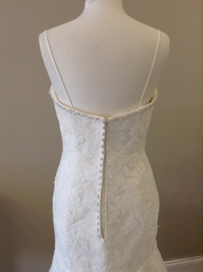 Enzoani Ivory Lace Huntsville Traditional Wedding Dress Size 8 (M)