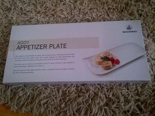 White Addy Appetizer Plates