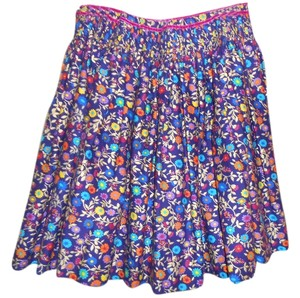 Dolce&Gabbana Dolce & Gabanna Floral D&g Skirt multi colored with deep purple background