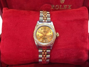 Rolex 2005 Ladies Two-tone Stainless Steel and 18k Gold 24mm Rolex Oyster Perpetual