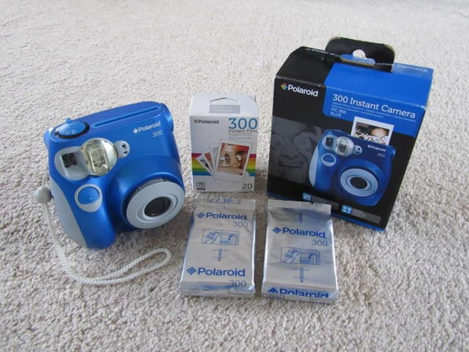 Polaroid Blue 300 Instant Camera Plus Film Reception Decoration 16% off  retail