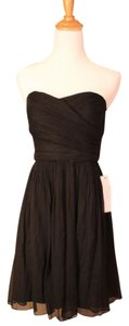 J.Crew Wedding Strepless Strapless Party Bridesmaid Silk Chiffon Flowy Dress