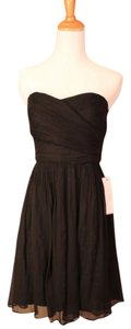 J.Crew Strapless Silk Chiffon Flowy Dress