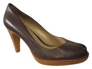 Ann Taylor LOFT Leather brown Platforms