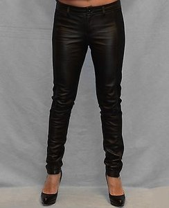 William Rast Leather Legging Skinny Pants Black
