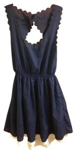 Double Zero short dress Blue Sleeveless Scalloped on Tradesy