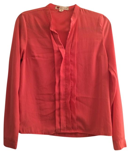 Lulu*s Pink Polyester Longsleeve Long Arms Top Coral