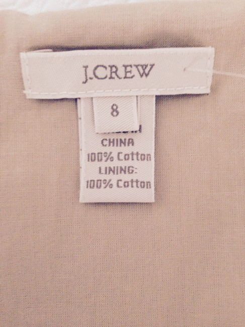 J.Crew Knee Length Lined Cotton Bridesmaid Strapless Dress