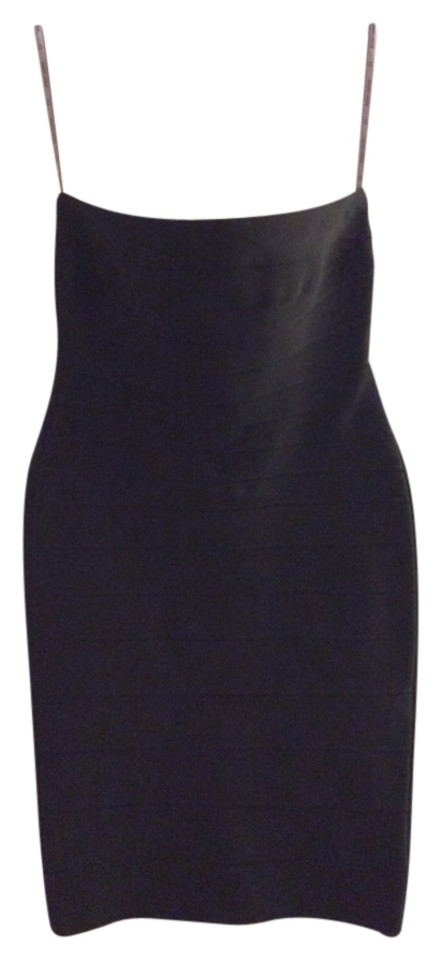 f473868ea434 Hervé Leger Black Strapless Bandage Above Knee Night Out Dress Size ...