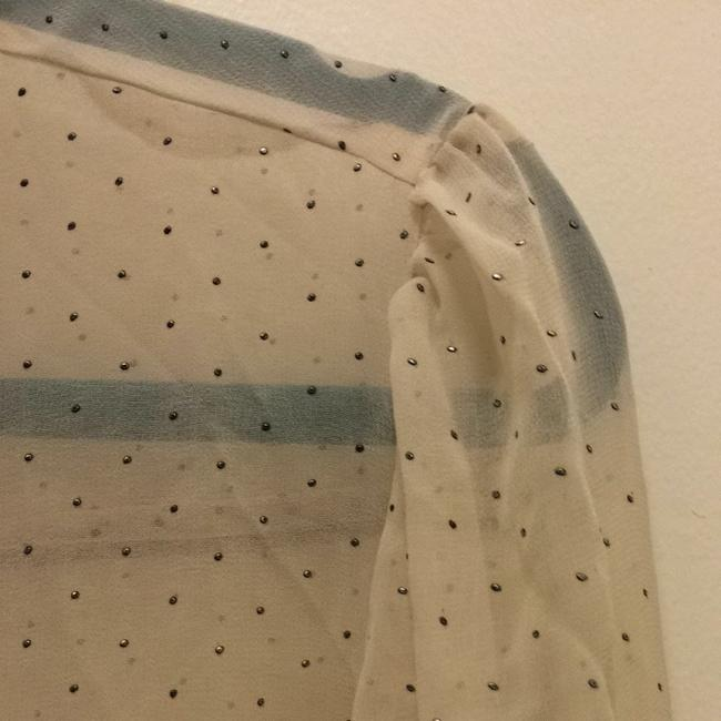 Forever 21 Top Cream, Black, And Silver Studs