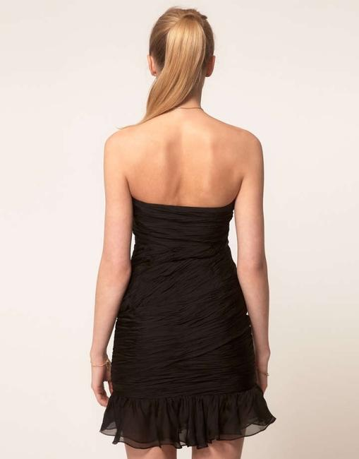 Halston Heritage Going Lbd Silk Silk Cocktail Formal Strapless Pleated Mini Mini Silk Alexander Wang Philip Lim Dress