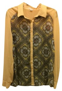 Forever 21 Top Yellow And Pattern
