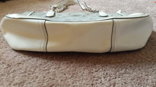 Coach Tote in Gray & White Leather Trim