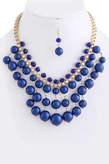 Preload https://item5.tradesy.com/images/blue-layered-bubble-bead-bib-necklace-335734-0-0.jpg?width=440&height=440