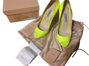 Prada Lime Green Sandals