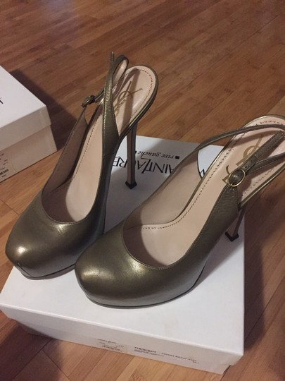 Saint Laurent Khaki/Olive Pumps Image 2