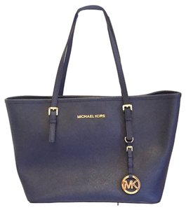 Michael Kors Jet Set Work Travel Nwt Mk Laptop Laptop Tote in Navy