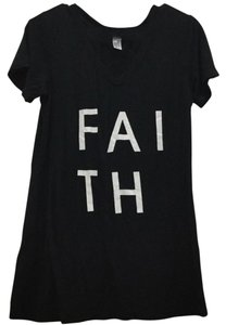 BCBGeneration Faith V Neck T Shirt Black