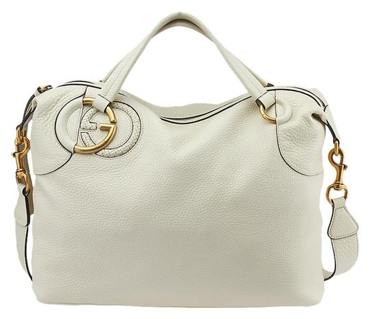 Preload https://item2.tradesy.com/images/gucci-twill-gg-leather-tote-bag-ivory-3358096-0-0.jpg?width=440&height=440