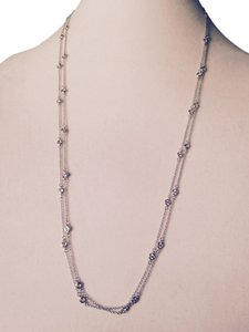Other Faceted Cubic Zirconia In Sterling Silver Long Necklace