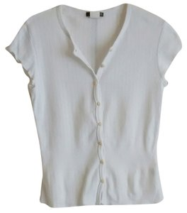 J.Crew Button Down Shirt Pointelle XS White