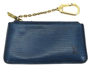 Louis Vuitton Louis Vuitton Epi Blue Key Pouch Cles Keychain ELVLM46 B#165542