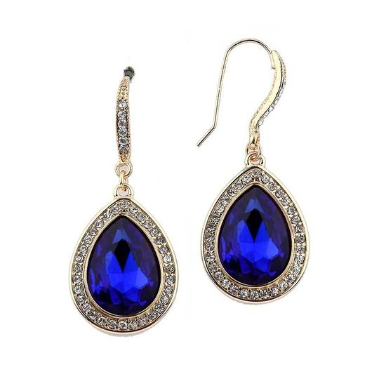 Mariell Royal Top Selling Teardrop with Gold Pave Accents 4247e-ry-g Earrings