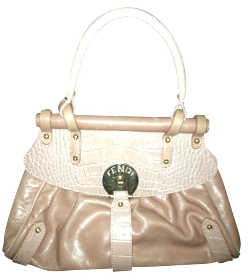 af80d51734 Fendi Magic (Small) Pink Peach with Gold Hardwares Crocodile Leather ...