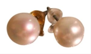 Faux Pearl Pierced Earrings