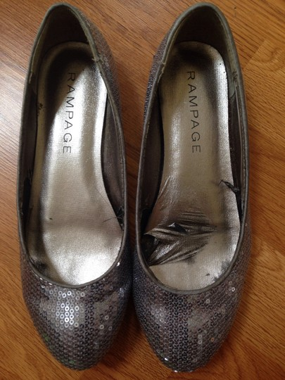 Rampage Sparkle Silver Flats