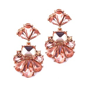 Mariell Rose Gold Dramatic Icy Pear Cluster Statement For Or Prom 4339e-rg Earrings