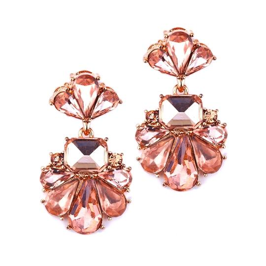 Mariell Rose Gold Dramatic Icy Pear Cluster Statement For Prom 4339e-rg Earrings
