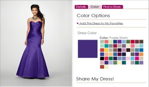 Alfred Angelo Purple Storm 7168 Dress