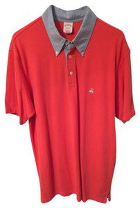 Brooks Brothers Mens Mens Polo Button Down Shirt Red