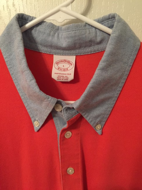 Brooks Brothers Mens Mens Polo Mens Polo Shirt Mens Polo Mens Button Down Shirt Red Image 1