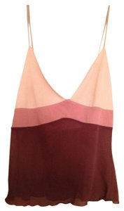 Kookaï Top Dark Maroon/Shades of Pink